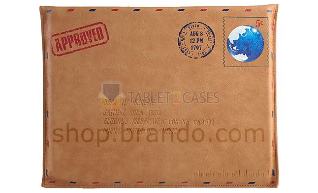 Brando Leather Postcard Pouch for iPad 2