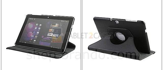 Brando Workshop Rotate Stand Leather Case for Samsung Galaxy Tab 10.1