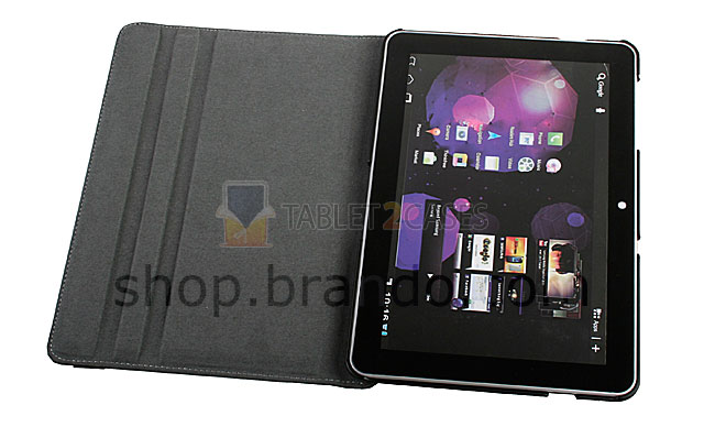 Brando Workshop Rotate Stand Leather Case for Samsung Galaxy Tab 10.1 screenshot