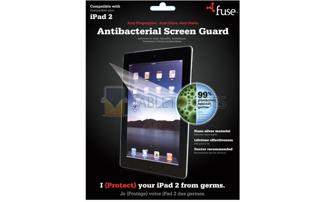 Fuse Antibacterial Screen Guard for iPad 2