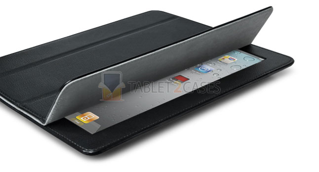 SmartFold Leatherette Portfolio Case for iPad 2 from id America