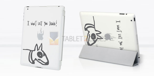 "Lost Dog ""Won't let you down"" case for iPad 2"