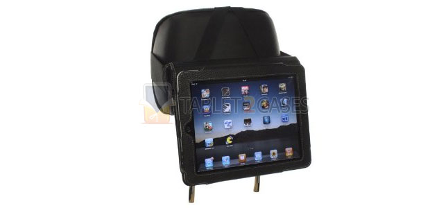 Snugg Case Cover with Flip Stand and Car Headrest Mount Holder for iPad 2