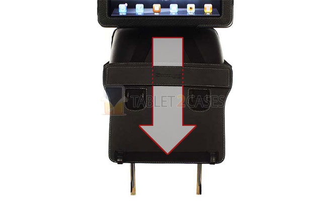 iPad 2 Snugg Case Cover with Flip Stand and Car Headrest Mount Holder