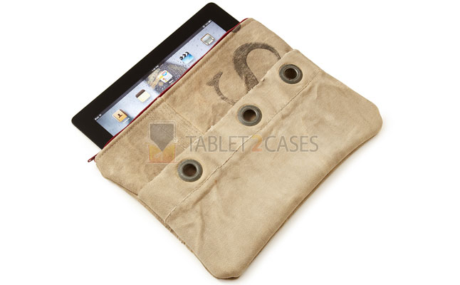 Upcycled MailSack iPad Case