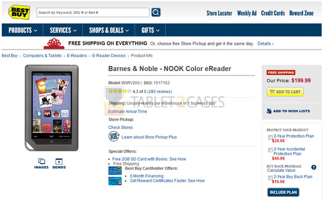 Best Buy drops Nook Color price