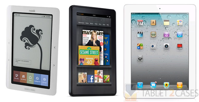 Nook Tablet, Kindle Fire & Apple iPad 2 Face-off