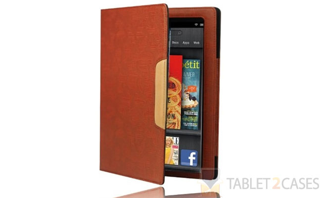 Splash Signature Folio Leather Case for Kindle Fire