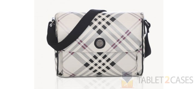 Jill-E laptop messenger bag black