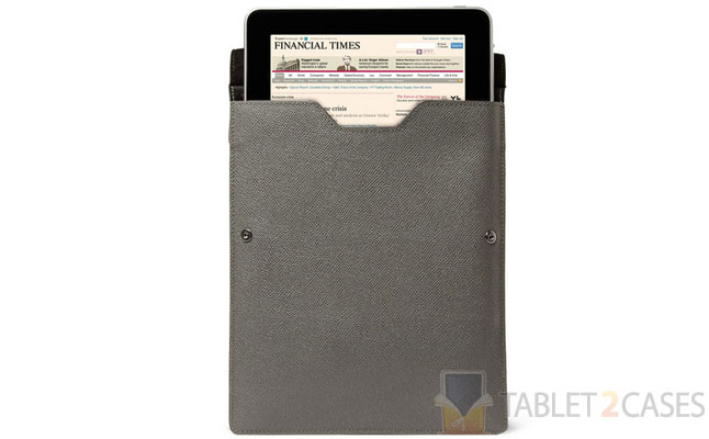 Gross Grain Leather iPad Case from Burberry