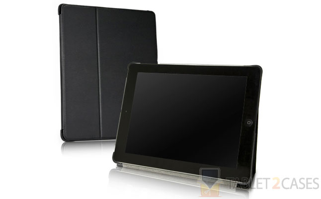 BoxWave Nero Leather Smart Nuovo iPad Case