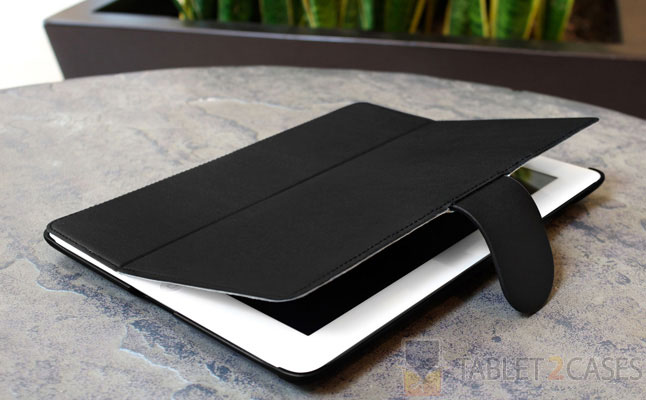 Nero Leather Smart Nuovo iPad Case from BoxWave screenshot