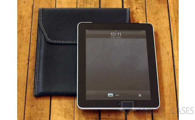 Falcon Gray Leather Case for iPad