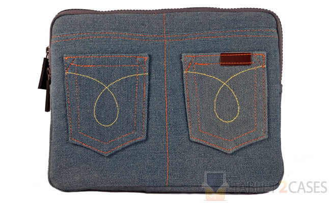 iPad 2 Denim Jeans Zippered Case
