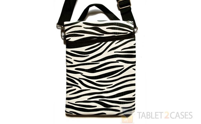 iPad 2 Zebra Striped Case with Shoulder Strap