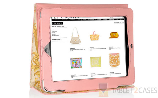 Printed Leather iPad Case from Versace