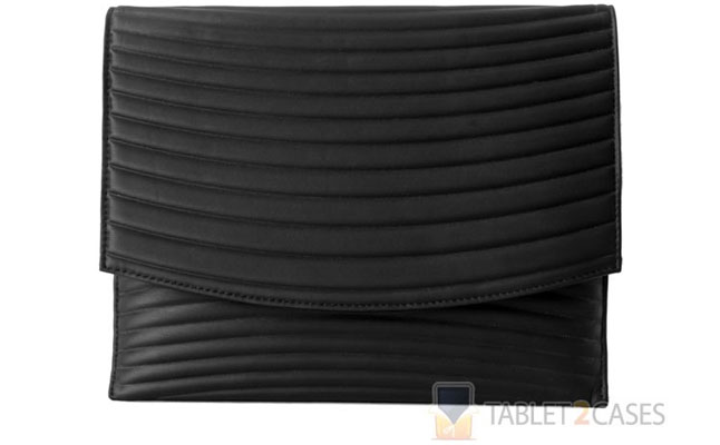 Wardmaster Universal iPad Envelope Case in Ripple Pattern Black