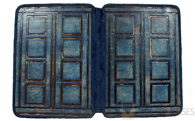 Joe V. Leather Tardis Kindle Leather Cover