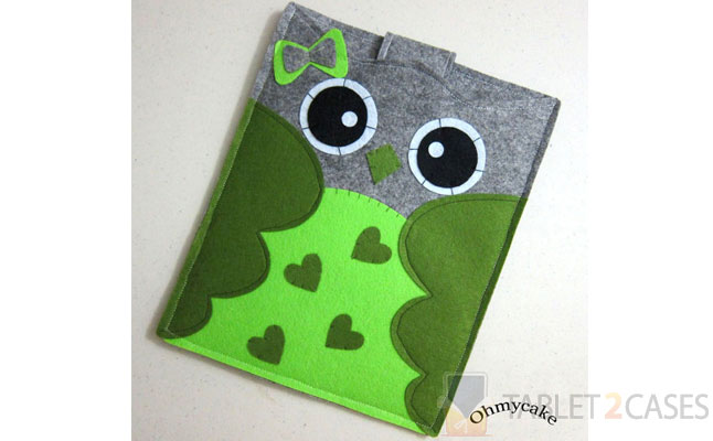 Oh My Cake Green Heart Owl