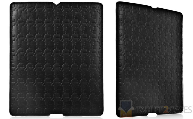 Karl Embossed Leather iPad Sleeve