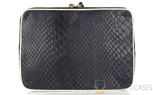 Newbark Snake-effect Leather Clutch