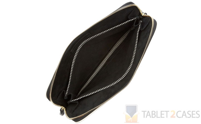 Snake-effect Leather Clutch from Newbark