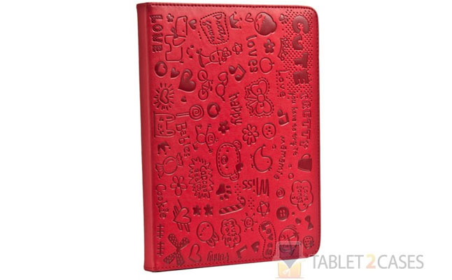 Cooper X Lopez Magic Scribble iPad 2 / iPad 3 Leather Folio in Red