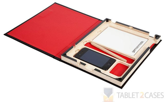 GermanMade G.2 iPad 2/iPad 3 Book Case in Black Linen