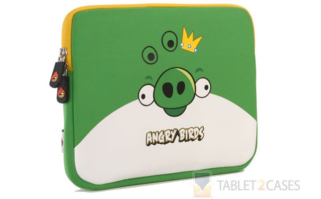 Angry Birds Themed Tablet Sleeve with Bad Piggy