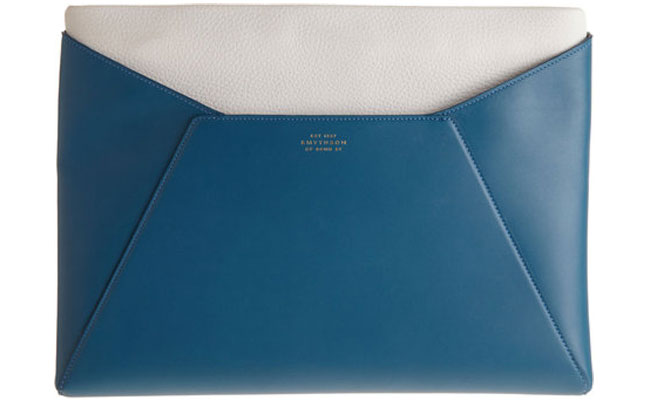 Smythson Top Zip iPad Clutch