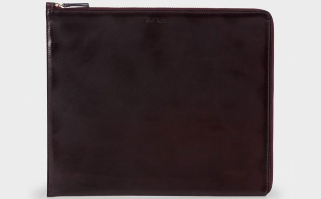 Paul Smith Brown Burnished Leather iPad Case