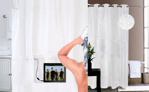 Hammacher Schlemmer Musical Shower Curtain