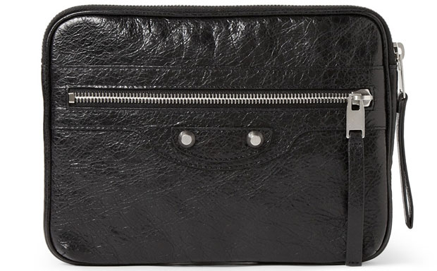 Balenciaga Textured-Leather iPad Mini Case