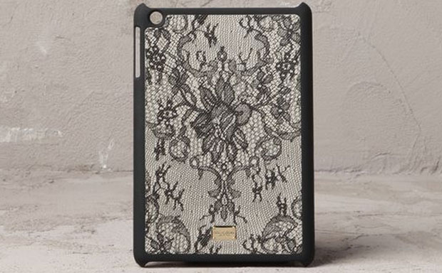 Dolce & Gabbana Lace-Print Mini iPad Hard Case