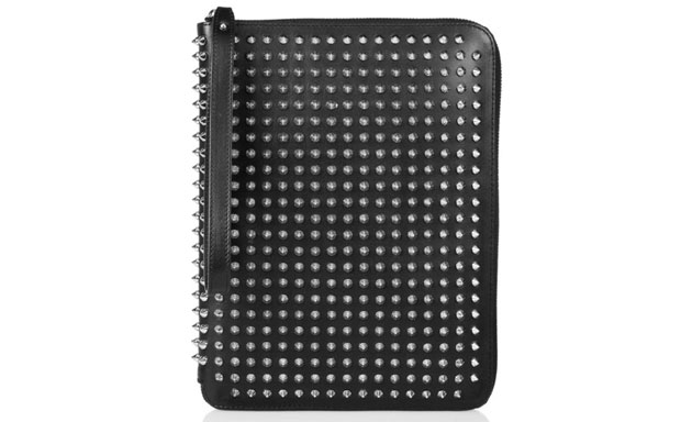 Christian Louboutin Studded Leather iPad Case