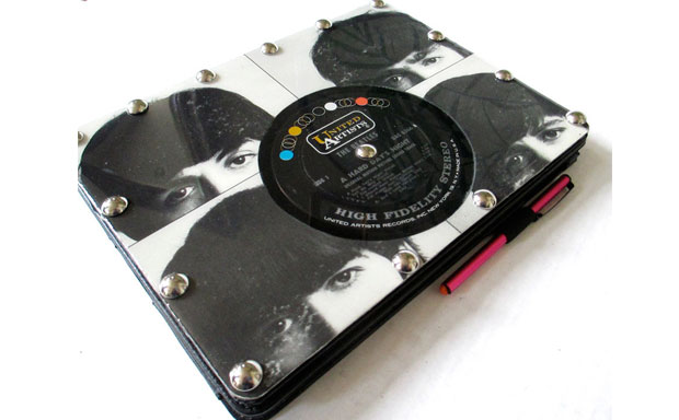 Tablet folio case collection made from reclaimed record albums offering great protection and looks