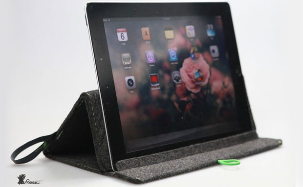 Made from recycled plastic bottles this tablet envelope case delivers durable protection and stand function