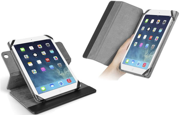 Simple-looking tablet folio case with integrated stand and auto sleep/wake functionality