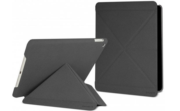 Origami-style cover functions as an integrated stand and supports auto sleep/wake feature as well