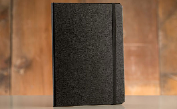 Cool tablet book case made of genuine leather sporting an integrated stand functionality