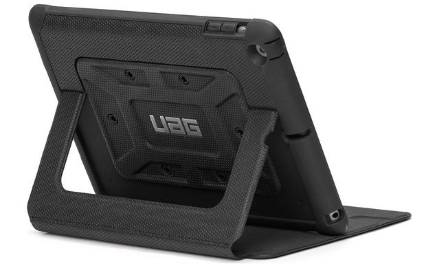 Rugged tablet case featuring auto sleep/wake and integrated stand capabilities