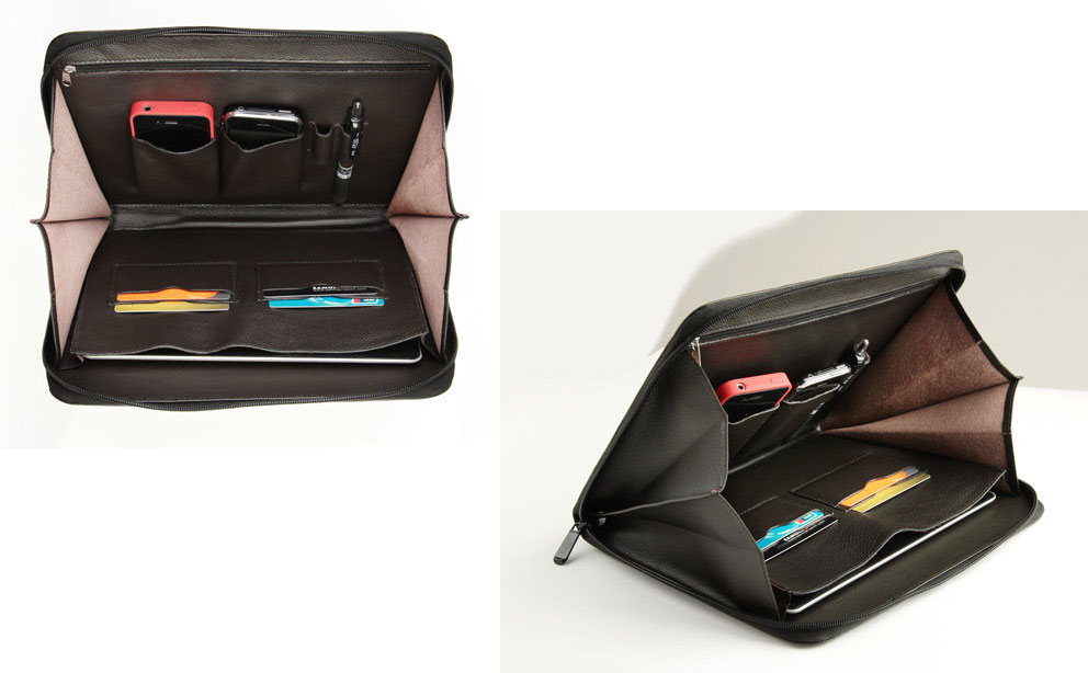 Leathercase iPad Zippered Portfolio Case