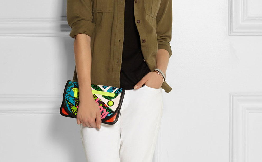 Marc Jacobs Leather-trimmed Coated Canvas image