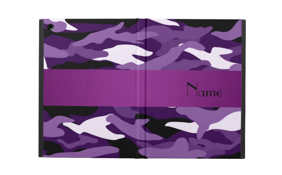 Zazzle Personalized Name Purple Camouflage