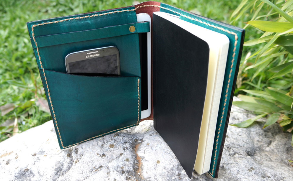 Galen Leather Large Moleskine Cover
