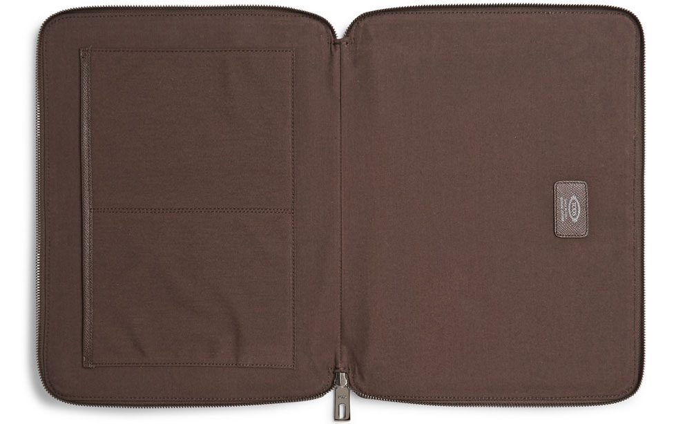 Tod's Cross-Grain Leather Document Holder image